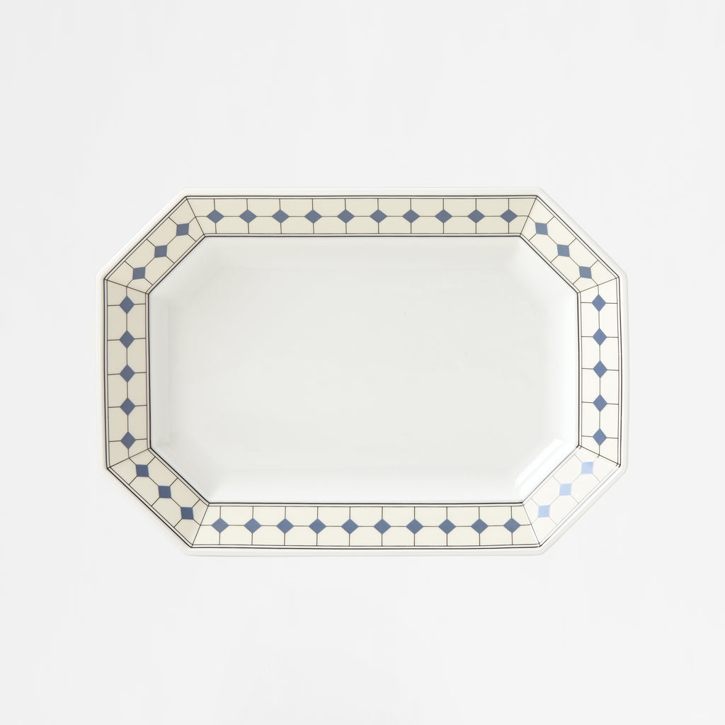 "Diamant No.10 French Blue 12"" Octagonal Platter"