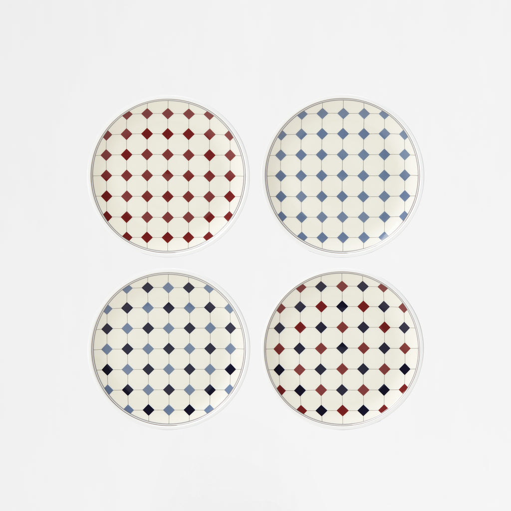 Diamant No.10 Tidbit Plates, Set of 4