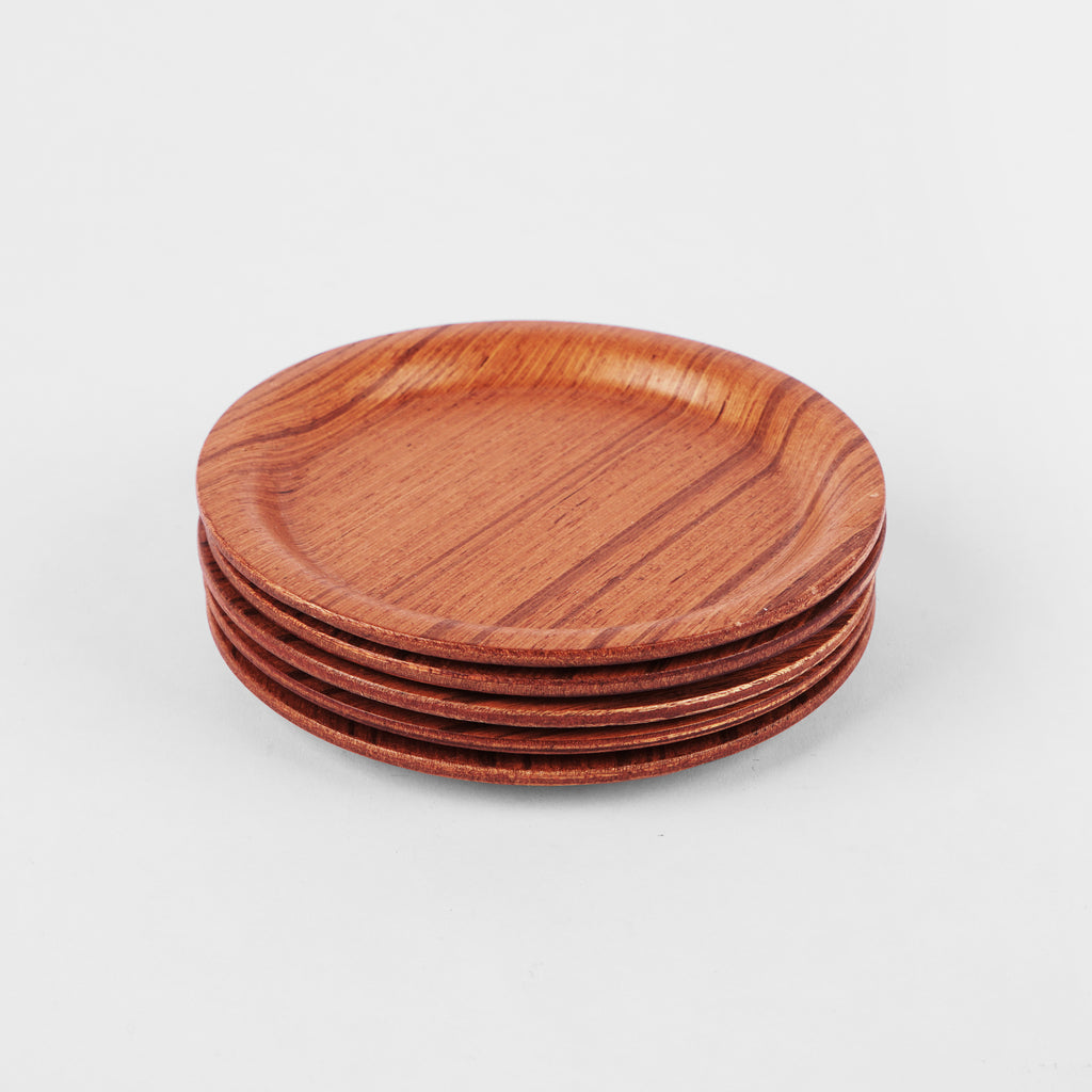 Small Round Coaster Of Ayous Wood