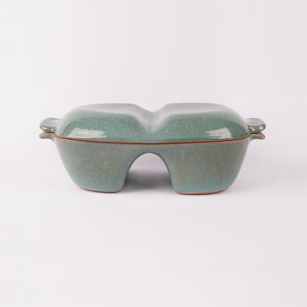 Turquoise Glazed Double Baking Dish By Glidden