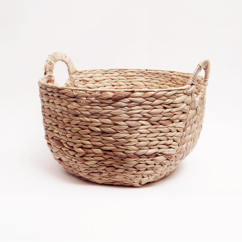 Round hyacinth storage basket large