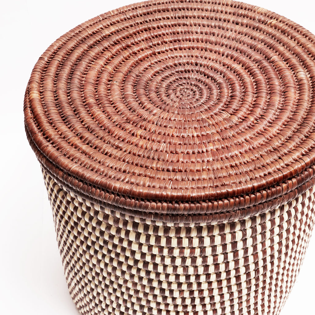 Turkana Brown With Natural Twill Weave
