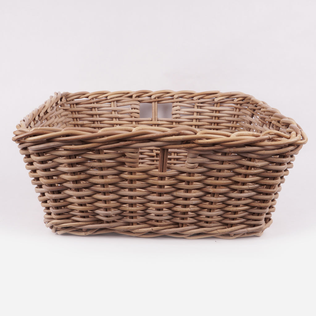 Square Grey Rattan Basket 2