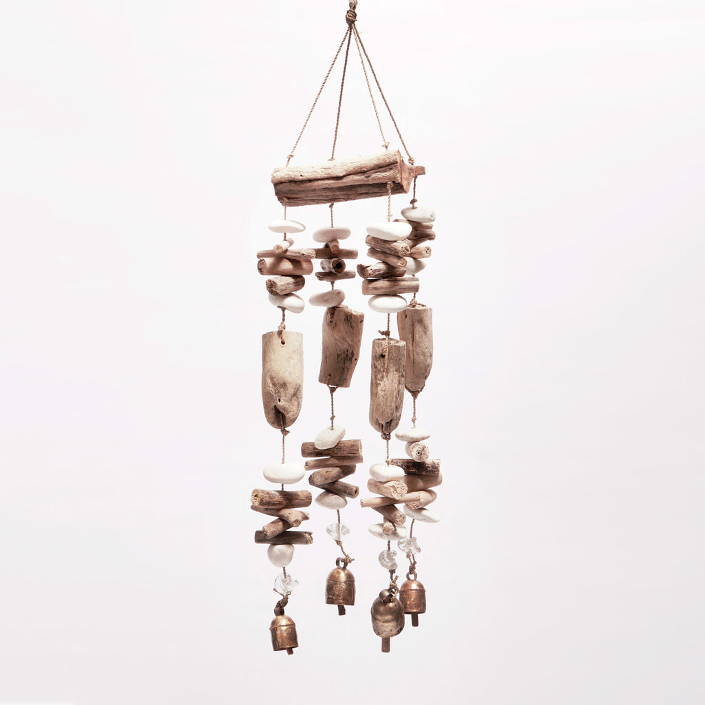 Driftwood Mobile With Beads/Bells