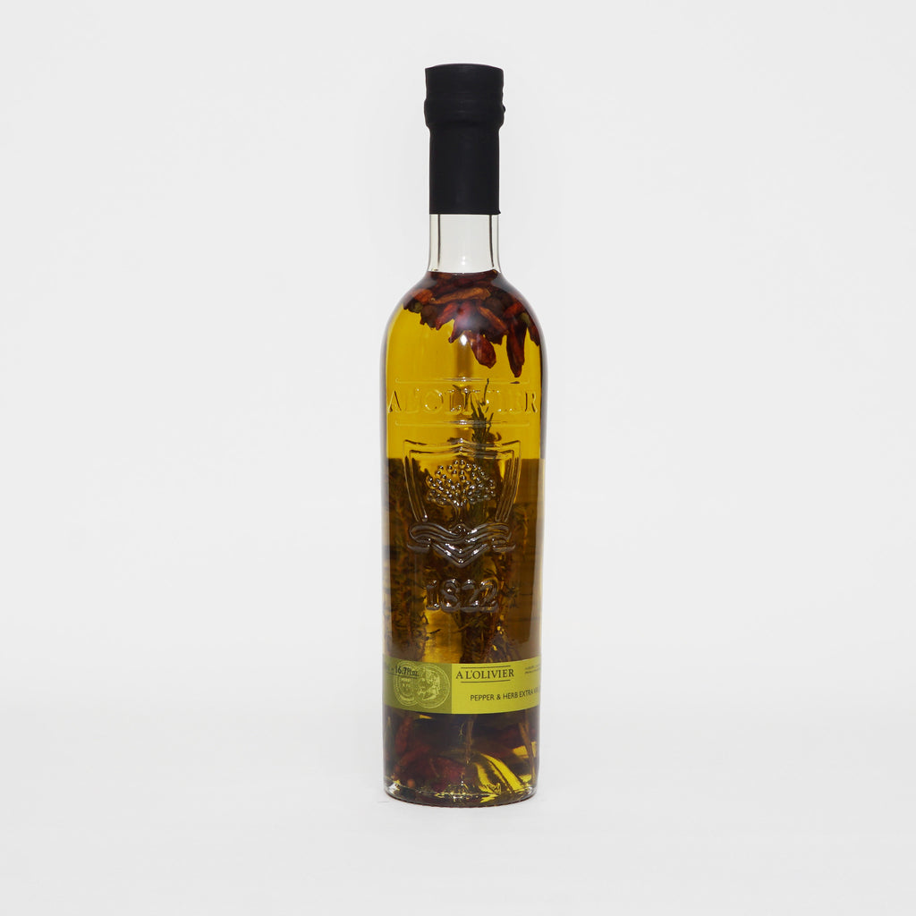 A L'Olivier Extra Virgin Olive Oil infused with Pepper & Herbs  500ml