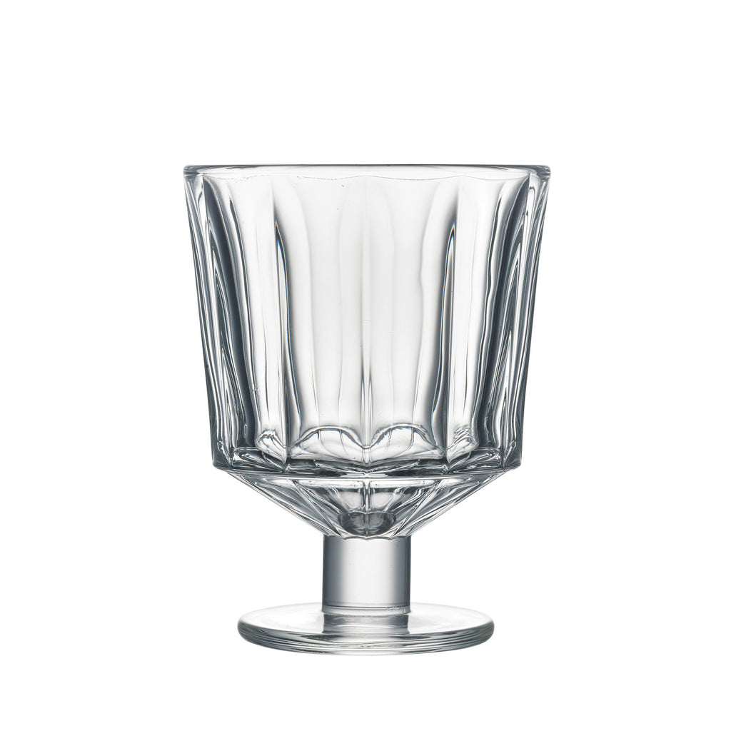 City pattern wine glass