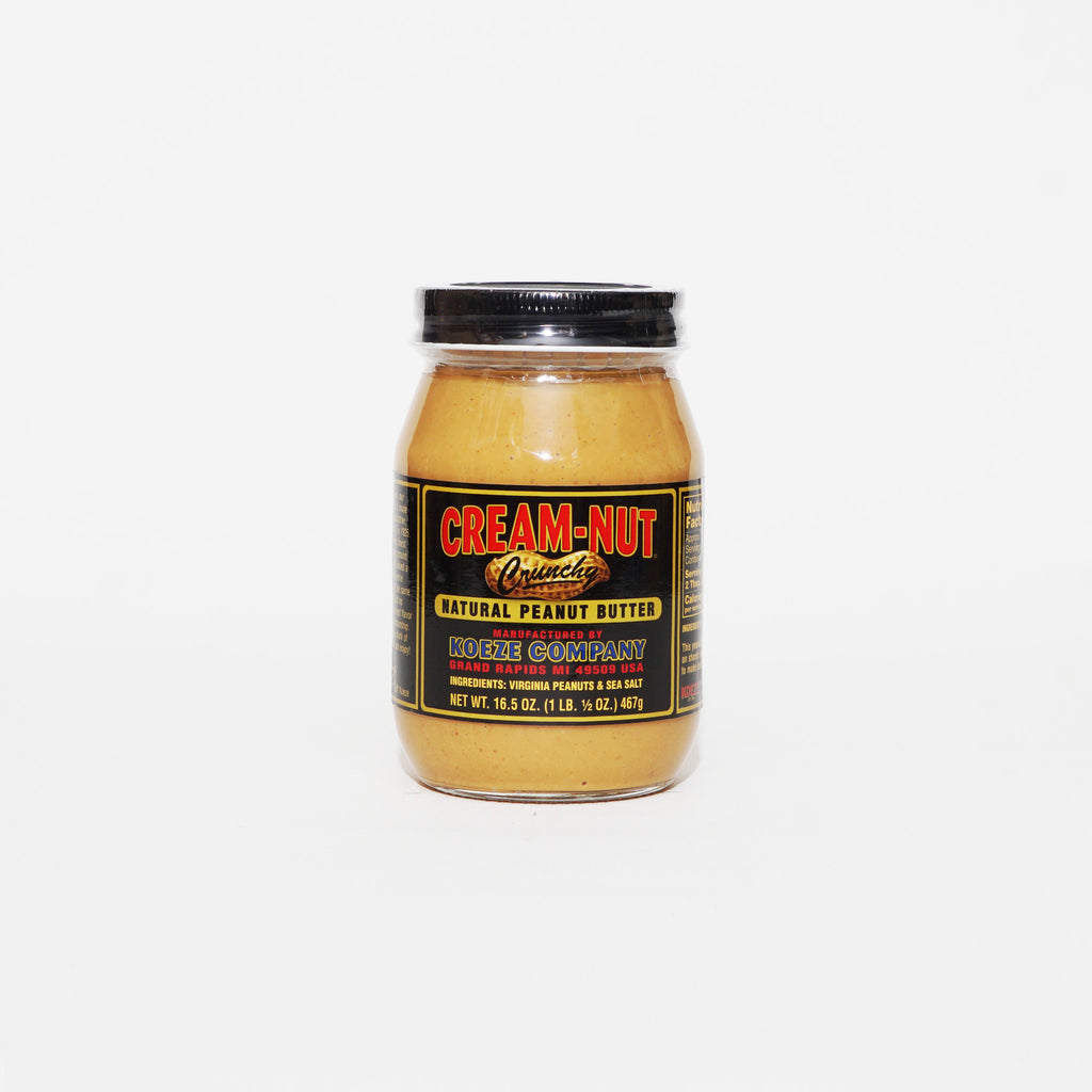 Cream-Nut Natural Peanut Butter Crunchy 16.5oz