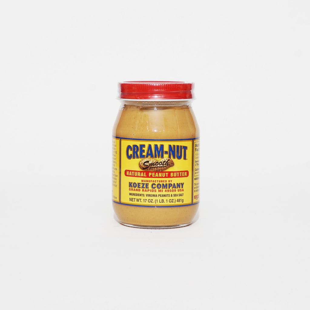 Cream-Nut Natural Peanut Butter Smooth 17oz