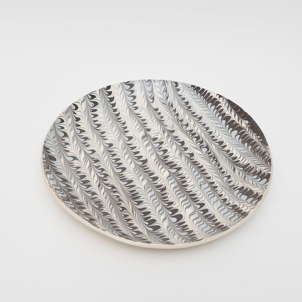 Pebble Platter in Feather Pattern