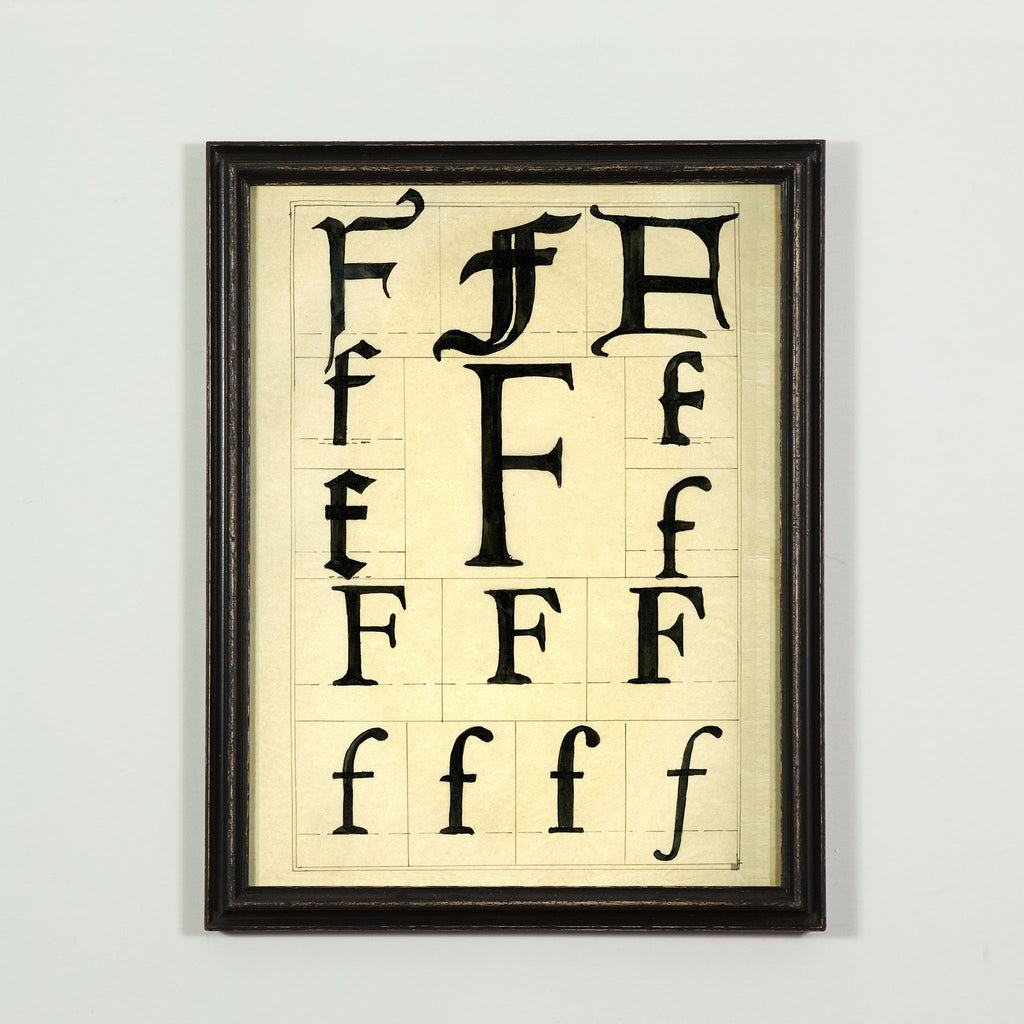 Individually framed typographical letter