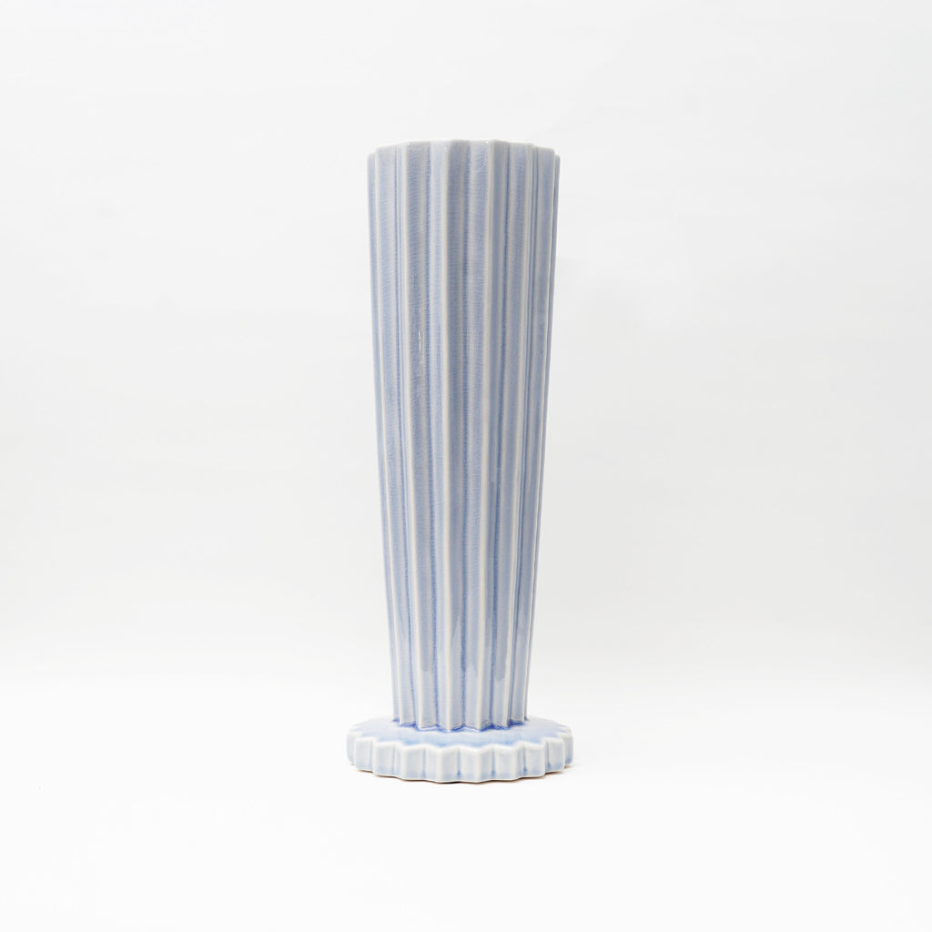 Tall Willow Vase in Antique blue