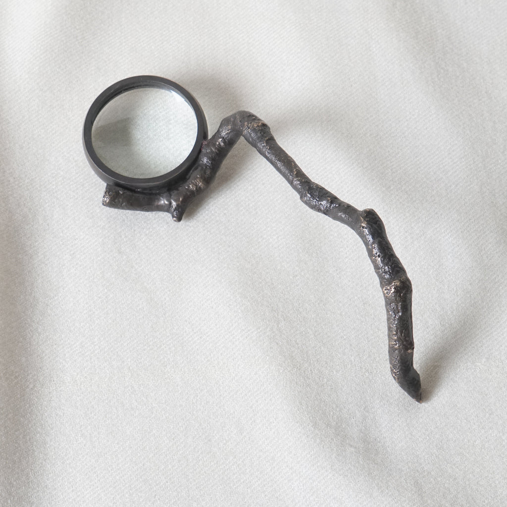 Twig handle magnifying glass