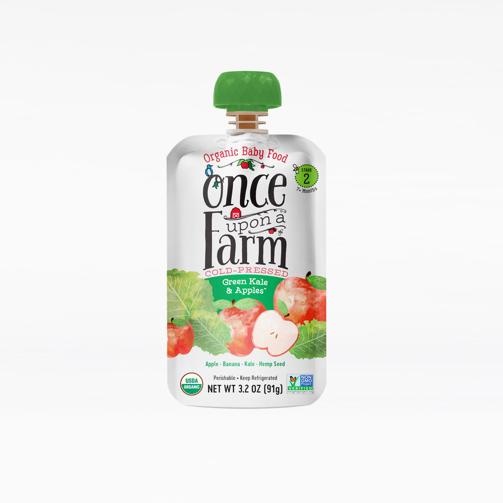 Green Kale & Apples Pouch 3.2oz