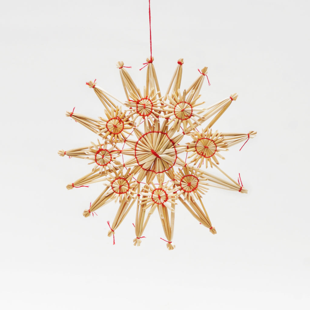 Large Ornate Straw Star Ornament