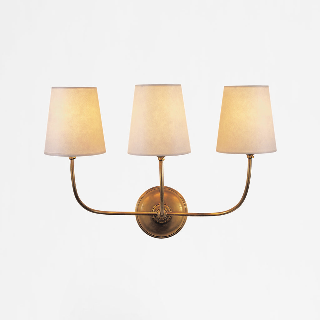 Vendome Three Light Wall Light