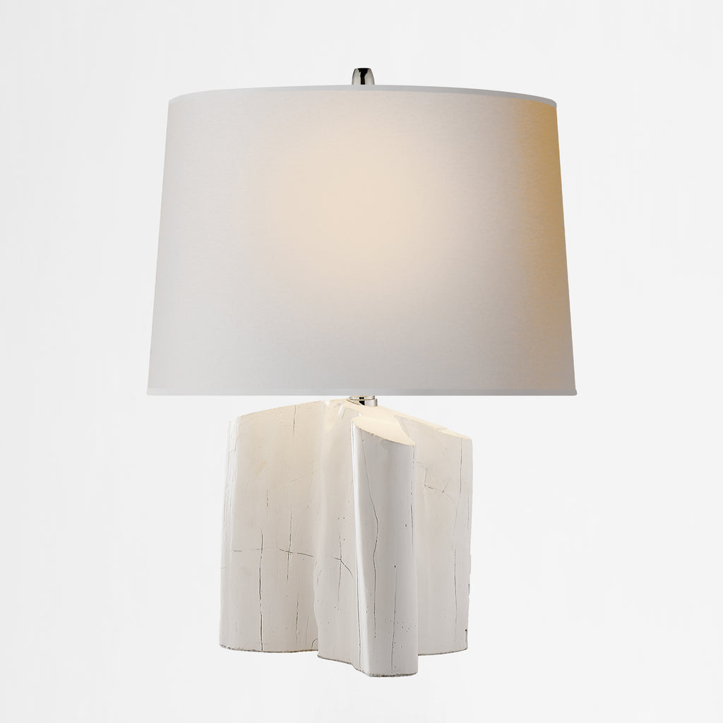 Carmel Plaster White Table Lamp