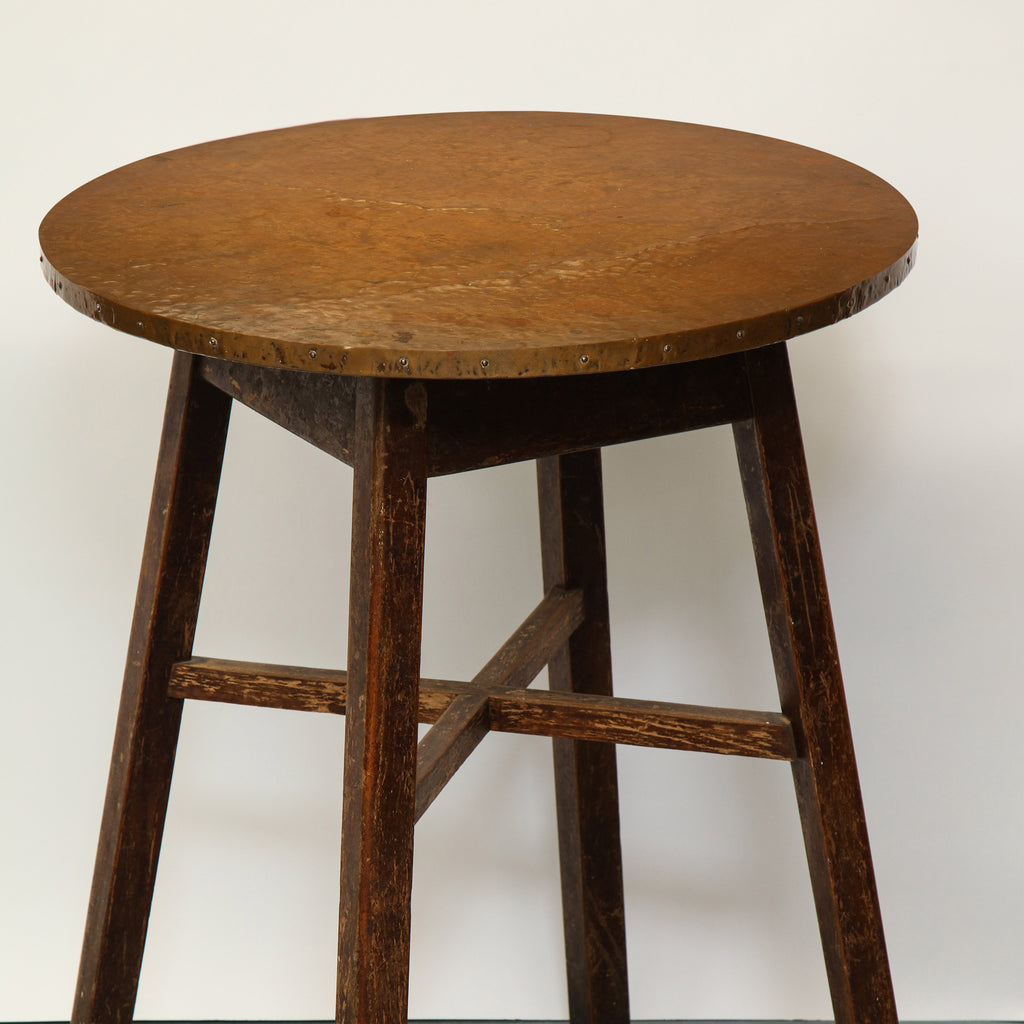 Arts & Crafts Hammered Copper Tables