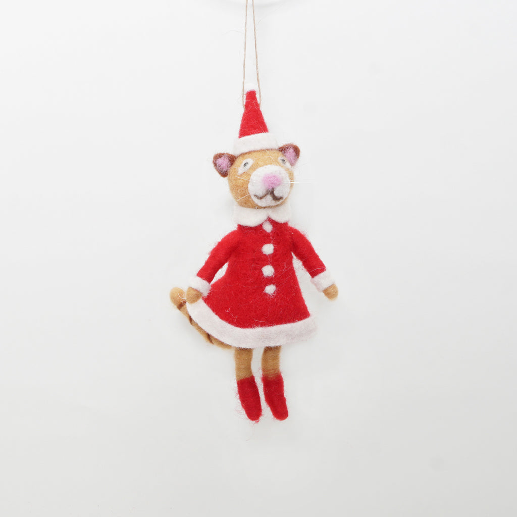 Mr. or Mrs. Cat Claus Ornament
