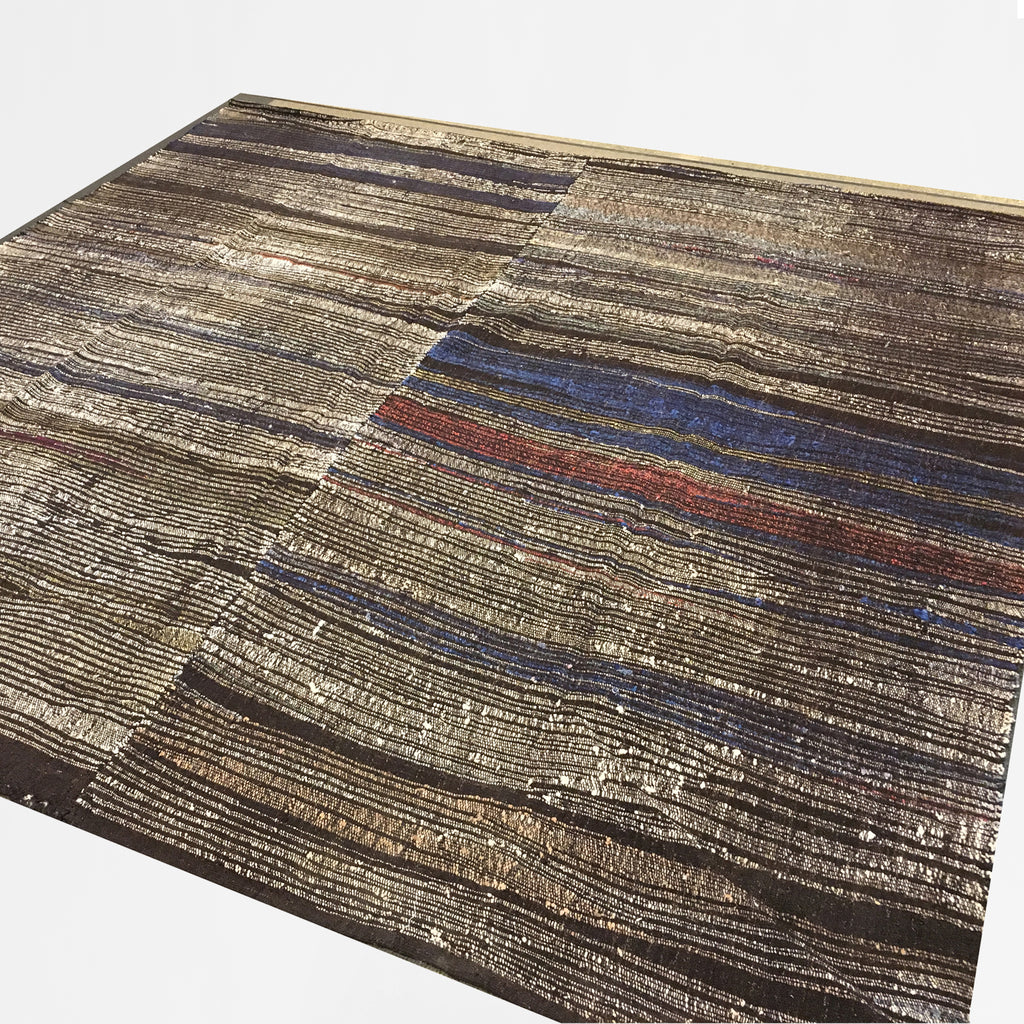 Charbrown Striped Kilim