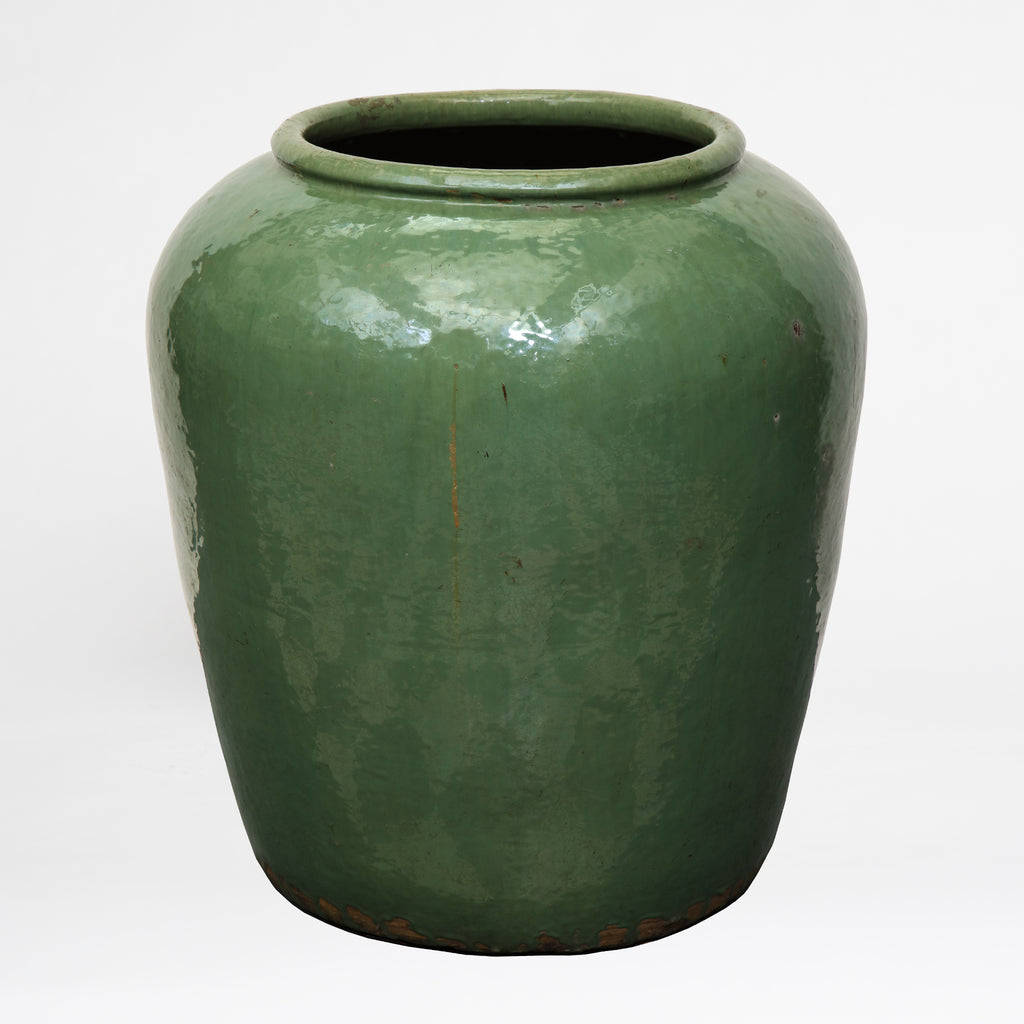 Antique green glazed Chinese pot c.1860 BOWLV170241