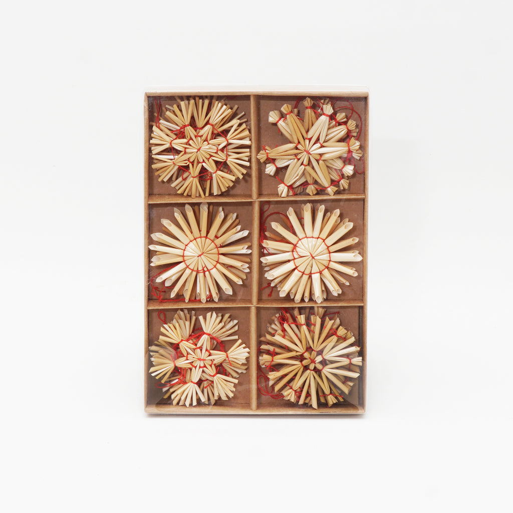 Straw star ornaments boxed set