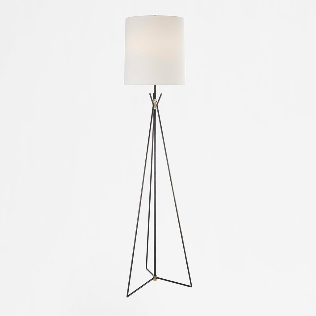 Tavares floor lamp in aged iron