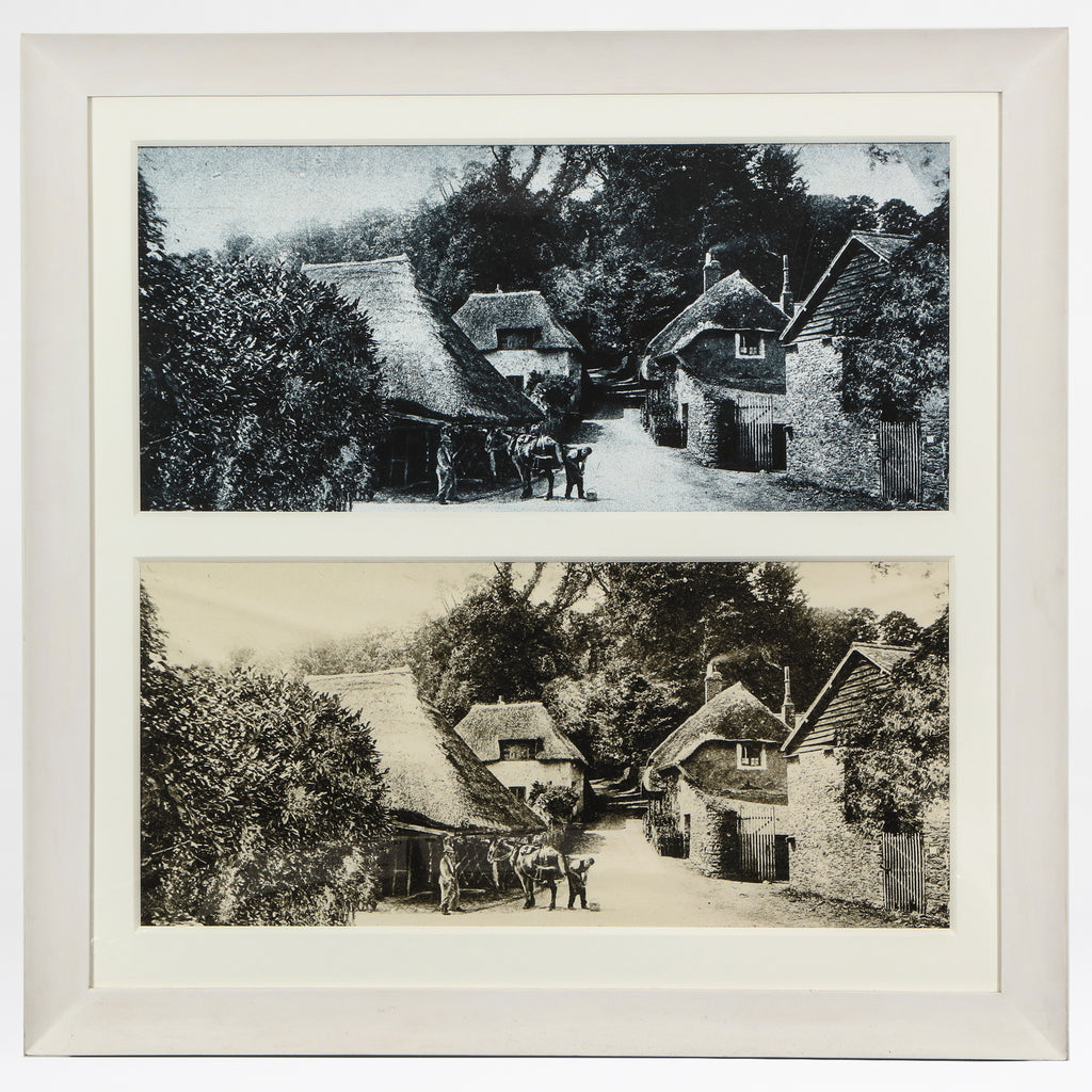 Thatched roofs diptych