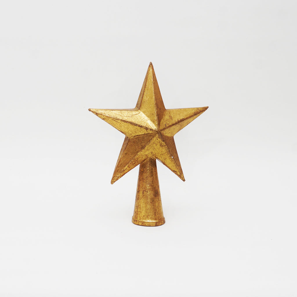 Antique Gold 5 Pointed Star tree topper