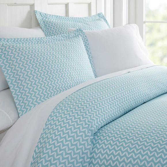 Puffed Chevron Duvet Cover Set 3pc
