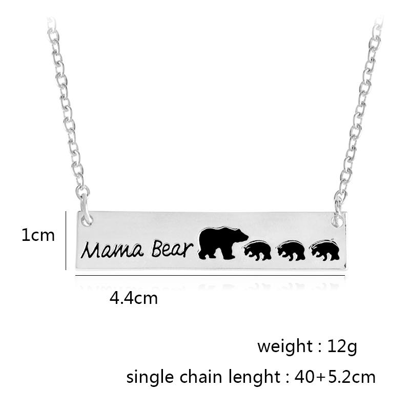 gift hollow neck necklace jewelry day s animal high quality bear mama wholesale mother