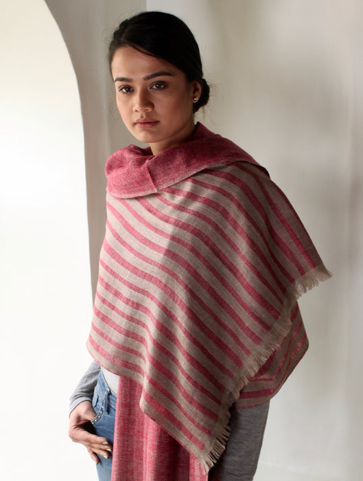 Addison-Cochniel-Natural-hand-woven-cashmere-scarf-kashmir-loom