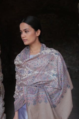 embroidered cashmere shawl kashmir loom