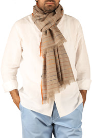 Sikander Cashmere Mens Large Scarf