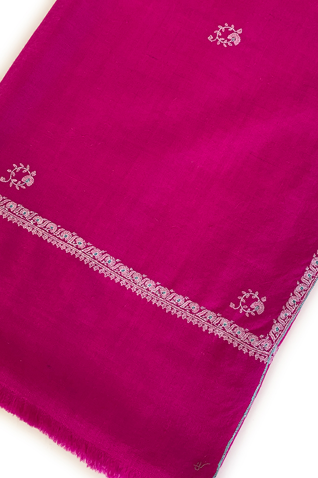 Flower Buti Hand Embroidered Cashmere Shawl