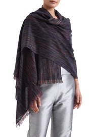 chambray cashmere stole kashmir loom