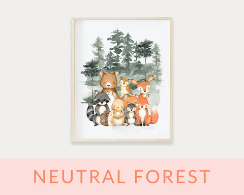 Neutral Forest Printables