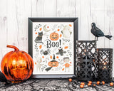 Boo Halloween Printable Wall Art, Digital Download