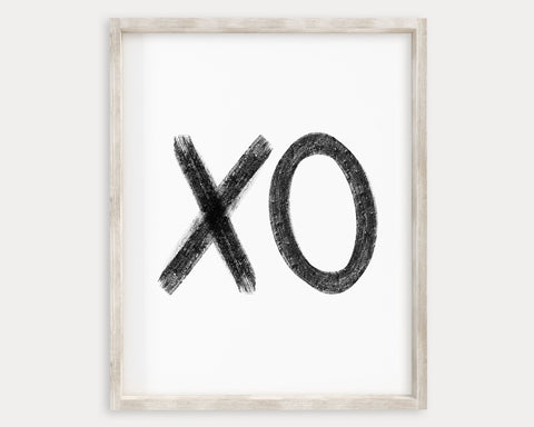 Black and White XO Printable Wall Art, Digital Download