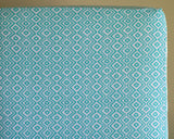 Kilim Aztec Aqua Blue Fitted Crib Sheet or Changing Pad Cover