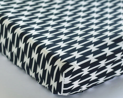 Tomahawk Stripe Changing Pad Cover or Fitted Crib Sheet