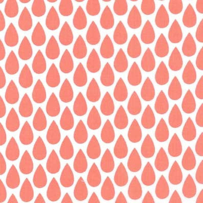 Coral Raindrops Fitted Crib Sheets or Changing Pad Cover