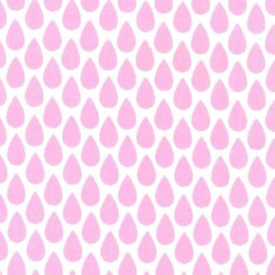 Pink Raindrops Fitted Crib Sheet or Changing Pad Cover