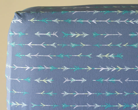 Pandalicious Bamboo Shoot Arrow Changing Pad Cover or Fitted Crib Sheet