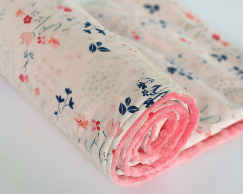 Library Gardens Floral Minky Baby Blanket