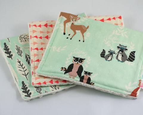Hello Meadow Minky Burp Cloth Set of 3