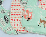 Hello Meadow Minky Baby Bib Set of 3