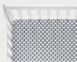 Gray Raindrops Fitted Crib Sheet or Changing Pad Cover