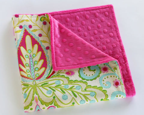 Kumari Garden Paisley Minky Security Blanket