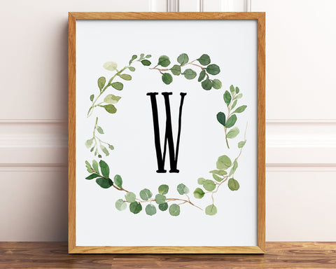 Monogram Personalized Gift, Printable Wall Art, Farmhouse Decor, Housewarming Gift, Baby Boy Nursery Decor, Home Wall Art, Baby Shower Gift