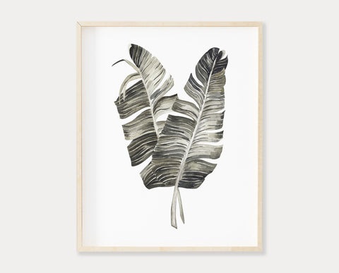 Palm Leaf Printable Wall Art, Digital Download